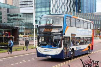 Burnham jumps aboard franchising bus image