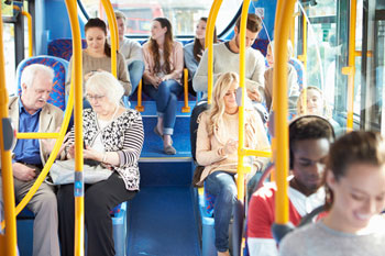 Bus use falls to lowest level in a decade image