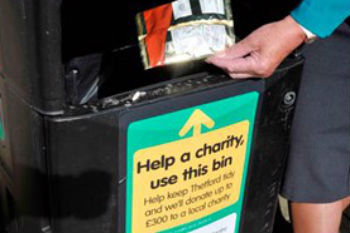 Charity bins pilot reduces littering by 30% image