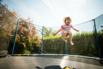 Council defends ban on trampolines image