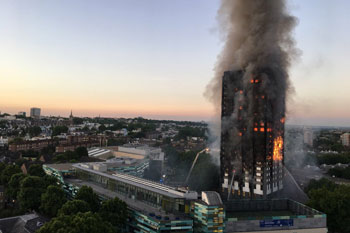 Council leader steps down after Grenfell fire image
