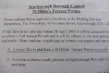 Council requests parking payment in cheese image