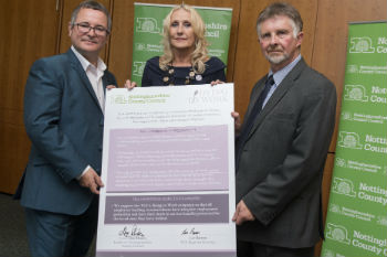 First county to back Dying to Work campaign image
