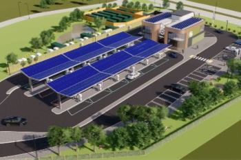 First electric forecourt in a £1bn network to open this summer image
