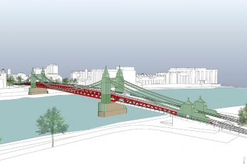Hammersmith Bridge could reopen as 'double-decker crossing' image