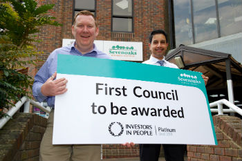 Kent council first to achieve Platinum Investors in People standard image