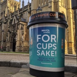 Leafield's Cup Bins support Bristol's 'For Cups Sake' Campaign image