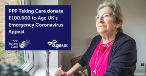 PPP Taking Care contribute £100,000 to Age UK's £10m Emergency Coronavirus Appeal image