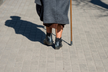 Potholes in pavements preventing more older people from walking image