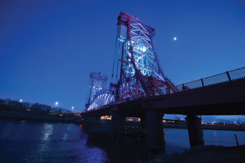 Public Lighting Runner-up: Newport Bridge Architectural Lighting, Stockton-on-Tees Borough Council image