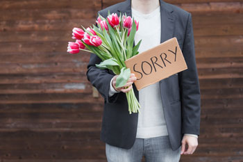 Saying sorry goes a long way image