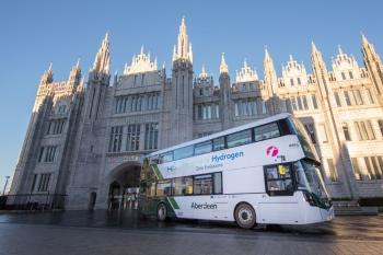 Scottish council launches world's first hydrogen double-decker buses image