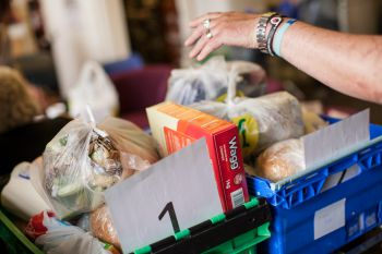 Telephone hotline would help foodbanks support people in a crisis says charity image