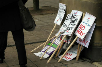 Trade union ballots members over strike action image