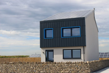 UK's first 'energy positive' house built in Wales image