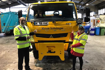X-Factor gritter Nicole Saltslinger christened in naming ceremony image